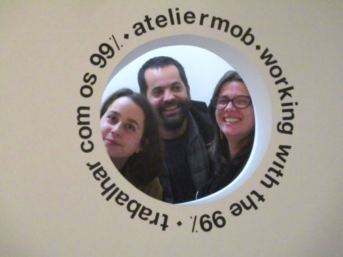 Abschlussbesichtigung, Architektinnen, Gulbankian, ateliermob, working with the 99%, trabalhar com os 99%, Goladinha