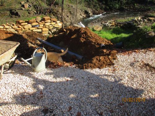 Wegentwässerung, am Haupthaus, Goladinha