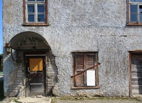 Estland, Dorf, Hauswand, Aussenputz, Goladinha