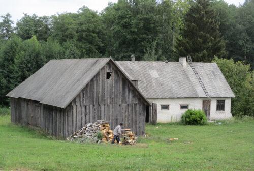 Litauen, Holzmachen, Goladinha