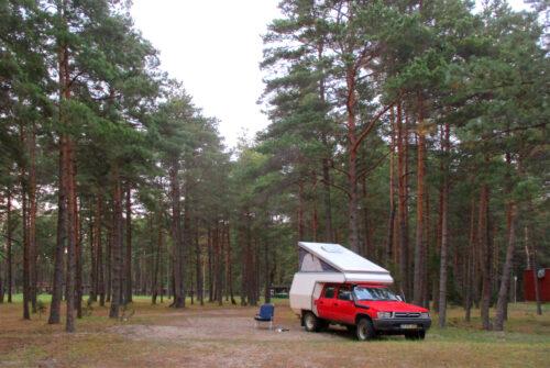 Estland - 2r - Rückreise, Pärnu, Ostsee, Schlafplatz, verlassener Campingplatz,Goladinha