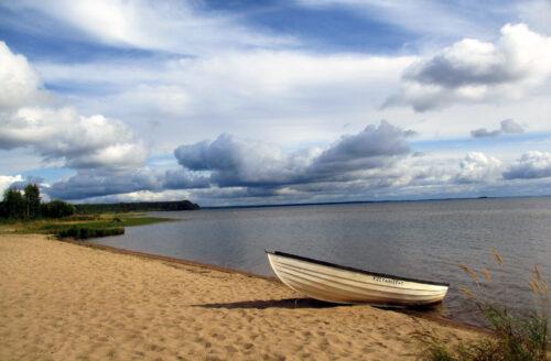 Finnland 10 - Campingplatz goldener Strand, Leirintäalue Kultahiekat, Insel Manamansalo, Goladinha