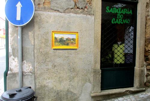 Bild, Gemälde, Hauswand, Figueiero dos Vinhos, Goladinha